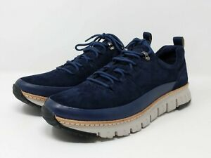 New Men's Cole Haan Zerogrand Rugged Oxford Shoes Blueberry Suede C28469 Sz 9.5