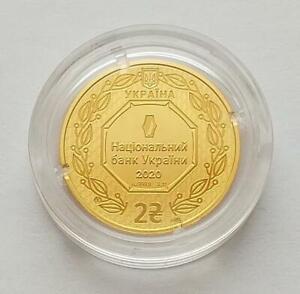 NEW DESIGN ! 2020 ARCHANGEL MICHAEL UKRAINE COIN 1/10 oz. 999 pure GOLD BULLION