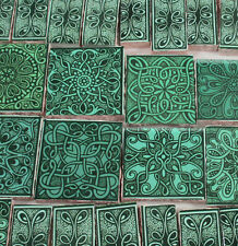 Ceramic Mosaic Tiles - Green Celtic Knot Mosaic Tile Pieces - Focal Mosaic Tiles