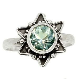 Star - White Topaz 925 Sterling Silver Ring Jewelry s.6.5 BR84433