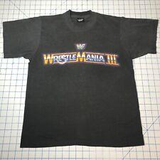 Rare Vintage WWF Wrestlemania 3 Shirt Hogan Andre