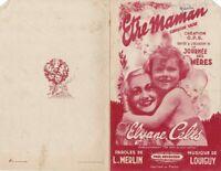 Ancienne Partition Etre Maman chanson Valse Elyane Celis Journée des Mères 1943