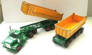 MATCHBOX  Kingsize K-16, Dodge Tractor Unit And Tipper Trailer, Playworn...