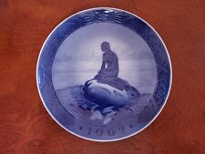 1962 Denmark Royal Copenhagen The Little Mermaid At Wintertime Plate