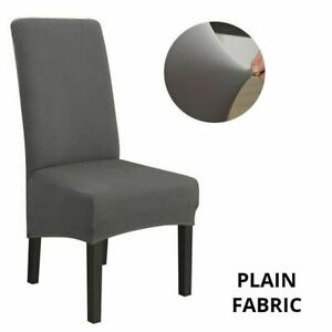 Jacquard Extra Large XL Dining Chair Cover Stretch Elastic Long Chair Slipcovers