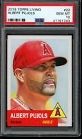2018 Topps Living Set #22 Albert Pujols PSA 10 Gem Mint SP Short Print Card