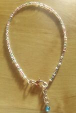 Multi pastel bead anklet summer,beach,funky,beads
