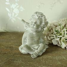 grey stone sitting cherub angel fairy ornament garden kitchen display