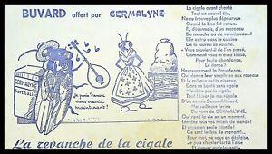 Buvard Publicitaire, Aliments GERMALINE - Fable la Cigale et la Fourmi
