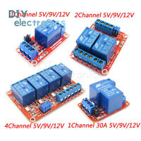 1/2/4 Channel Relay Module Board With Optocoupler H/L Level Triger 30A 5V-24V