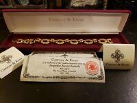 Camrose Kross Bracelet JBK Jacqueline Kennedy Jewelry Ruby COA All Original 8 In