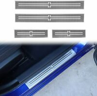 GLFDYC 4 PCS Car Threshold Bar Door Sill Protector Trim for Volkswagen VW Passat B6 B7 2005-2015 Stainless Steel Car Welcome Styling Scuff Plate Accessories
