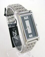 A II Z by TIMEX BLACK+WHITE DIAL & SILVER TONE BAND WOMENS WATCH-NEW-V0V702