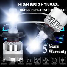 H4 9003 HB2 COB LED Headlight Conversion Kit 6000K White Bulb HI-LO Beam