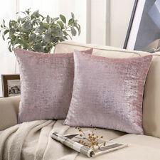 Cushion cover pink silver decorative pillowcase sofa couch silver foil printed