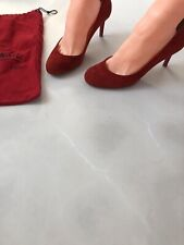 christian louboutin 39,5 Uk 6 Red Suede  Mid Heels, Simple Pump, Party!