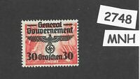 MNH stamp 30Gr 1940 Overprint Third Reich Germany General Government Poland WWII