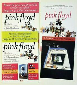 ▓ French Only Promo ▓ PINK FLOYD : LOT de 4 LIVRETS / BOOKLETS / DISCOGRAPHIE