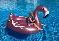 Giant Inflatable Rose Gold Flamingo Pool Float. Large Swimming Lilo Floatie Raft