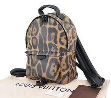 Auth Louis Vuitton Palm Springs Pm Leopard Animal Print Backpack Bag 28692