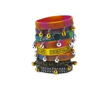 Zumba ~ ROCK N RAVE Rubber Bracelets 8 Pack!(4 with bells)(4 without bells)