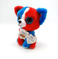 "6"" TY Beanie Boo Cracker Barrel Exclusive Dog Valor Plush Toys Glitter Eyes"