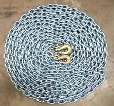 """(1)NEW 3/8""""x 50' Grade 43 High Test Logging Chain - Made in USA w/G70 Grab hooks"""