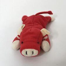 "TY McDonalds 1996 Mini Beanie Red Bull No Hang Tag 6"" Long x 1"" Tall"