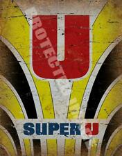 SUPER U Jersey VINTAGE RETRO CYCLING   METAL TIN SIGN POSTER WALL PLAQUE