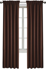 """NEW Double Lined Blackout Cypress 54"""" x 63"""" Curtain Panel Chocolate Brown"""