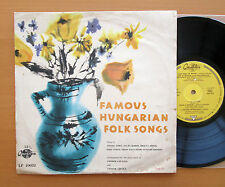 "Famous Hungarian Folk Songs 10"" Mono Vinyl - Qualiton LP 10032 NM/VG"