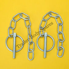 FREE P&P 2 x 6mm Galvanised Lynch Pin & Chain Ifor Williams Trailer & Horse Box