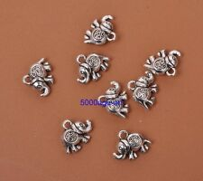 Wholesale 20pcs Tibetan Silver charm Double sided elephant pendant 11x14mm A3032