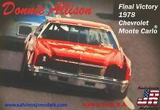 Salvino JR NASCAR Donnie Allison Final Victory 1978 Monte Carlo model kit 1/25