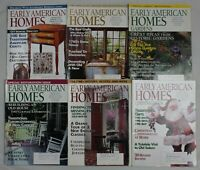 Lot of 6 Early American Homes magazine back issues from 1996 and 1997