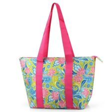 NEW Womens Nylon Insulated Lunch Tote Bag Box (Green, Pink Paisley)