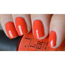 OPI ~A GOOD MAN-DRIN IS HARD TO FIND~ Bright Red Orange Nail Polish Lacquer H47