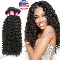 300g THICK 3 Bundles 7A 100% Unprocessed Virgin Human Hair Weave Brazilian Curly