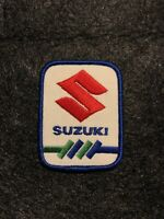 """Vintage New Old Stock Suzuki Motorcycle Embroidered Iron-On Patch 3.25"""" x 2.5"""""""