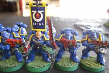 40K Space Marines Tactical Squad fully paintesd