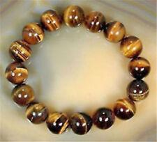 Natural Tiger eye Stone 10mm Round Beads Stretchy women&Men Bracelet Bangle