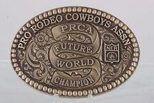 MONTANA SILVERSMITHS SOLID BRASS PRO RODEO COWBOYS ASSN. BELT BUCKLE 2093B