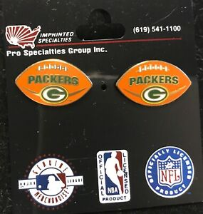 Green Bay Packers Football Logo Stud Earrings  NEW