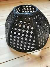 Black Vintage Small Rattan Cane Lampshade
