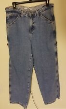 Tommy Hilfiger Carpenter Jeans Womens Sz 10 Loop Spell Out Medium Wash Baggy