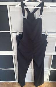 River Island Size 18UK Braces Pinafore Jumpsuit Trousers Black Bib & Brace