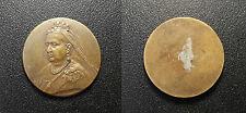 Reine Victoria - jeton en laiton buste agé