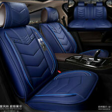 6D Blue PU Leather Car Seat Covers Cars Cushion For Auto Accessories Car-Styling