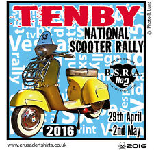 TENBY 2016 SCOOTER RALLY RUN  PATCH MODS SKINHEADS SCOOTERIST SCOOTER BOYS