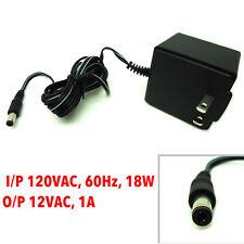 AC Adapter Power Supply 12 VAC-1Amp I/P 120VAC-60Hz, 18W, Output  12VAC-1A